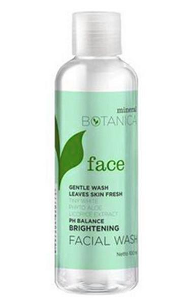 Mineral Botanica Brightening Facial Wash sabun muka terbaik