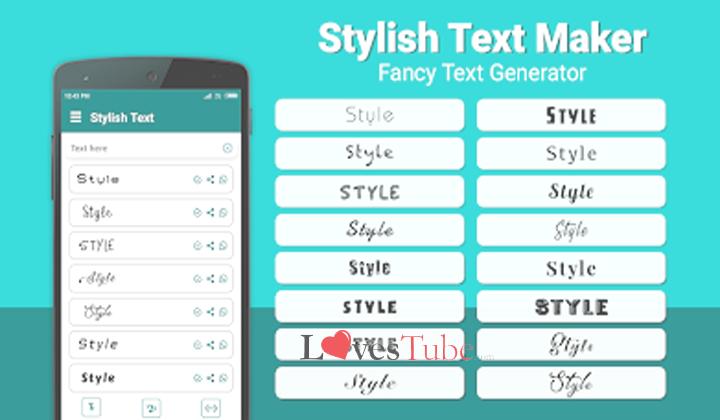 Menggunakan Stylish Text